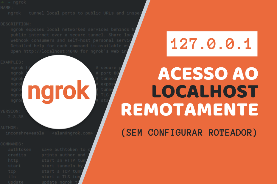 acesso ao Localhost remotamente com ngrok